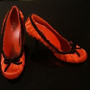 Vintage Red Lace Shoe Doll